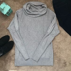 Michael Kors Zippered Cold Shoulder sweater